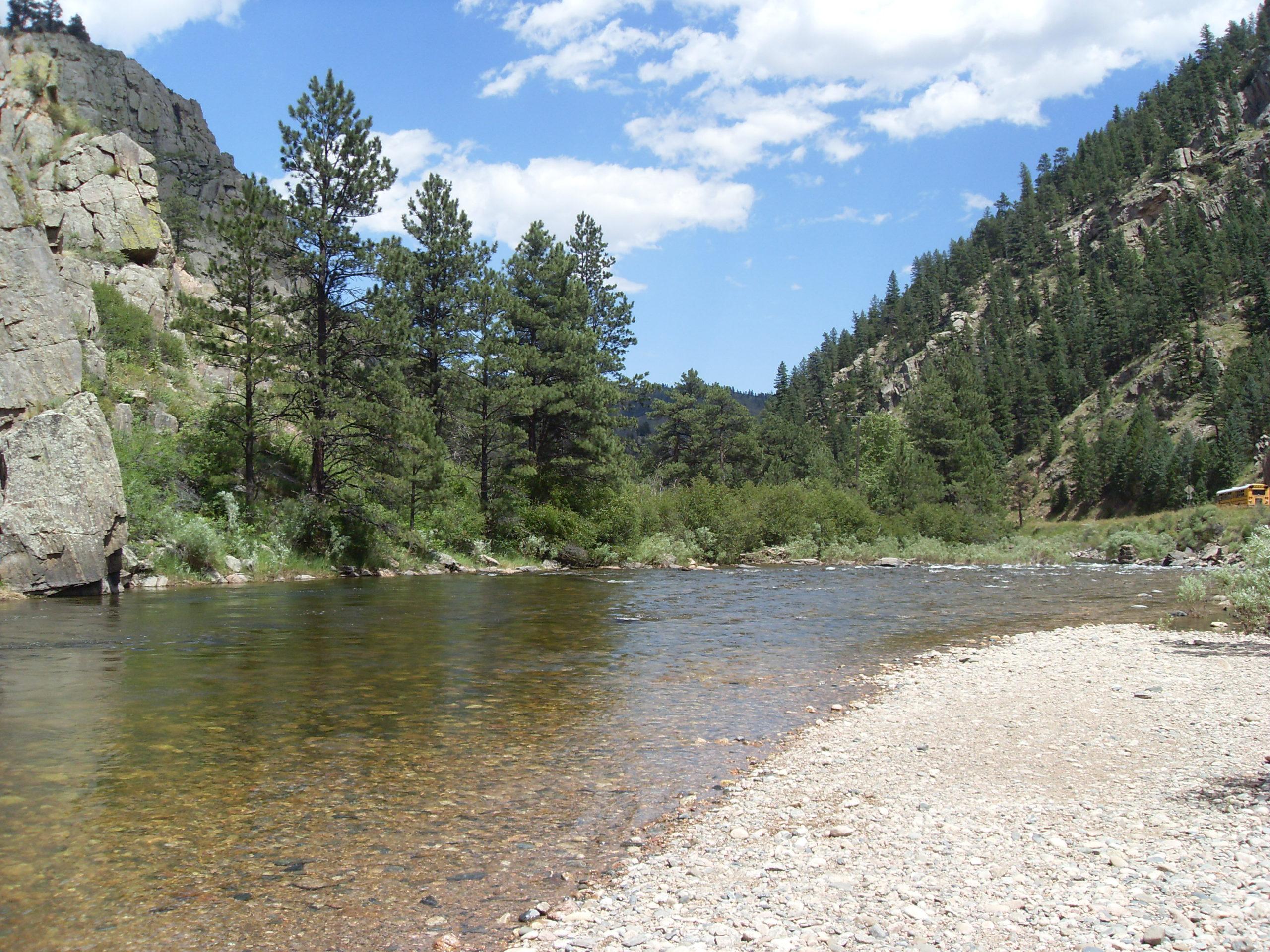 The Cache La Poudre River Colorado